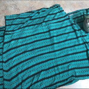 Poetry maxi diamond pattern skirt